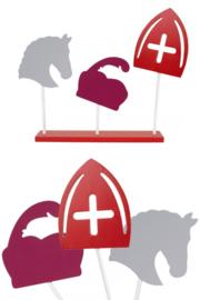 Decoratie plank Sint, Piet en Amerigo