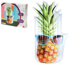 Opblaasbaar luchtbed funny ananas 180x100x16cm