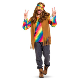 Hippie man kostuum