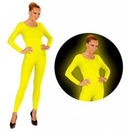 Bodysuit neon geel