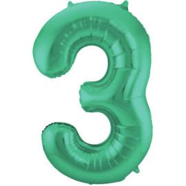 Folieballon 3 mat groen