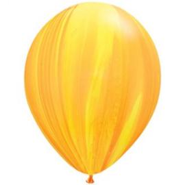 Marmer ballonnen rainbow orange 25 stuks