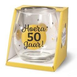 Wijnglas 50 jaar Proost!