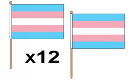 Transgender handvlaggetjes 12 stuks