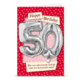 Leeftijd ballonnen kaart 50 jaar