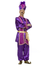 Sultan kostuum paars