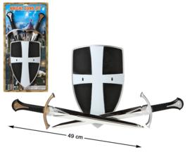 Zwaard set knight | zwart wit