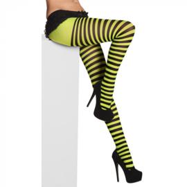 Panty Striped neongroen/zwart
