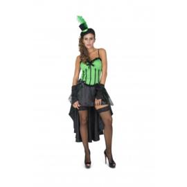 Burlesque jurk groen
