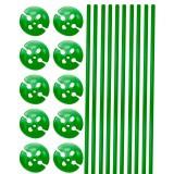 Ballonstokjes met houder groen 10 stuks