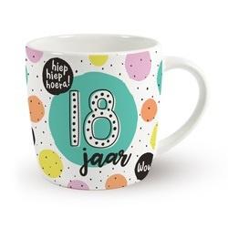 Verjaardags mok - 18 jaar | koffie beker