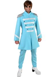 Sgt. Pepper kostuum turqoise deluxe