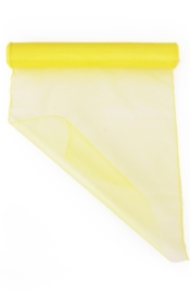 Organza op rol geel