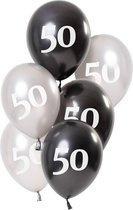 Ballonnen Glossy Black 50 Jaar