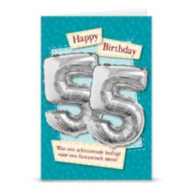 Leeftijd ballonnen kaart 55 jaar