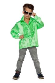 Disco shirt kinderen groen