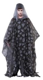 Zombie poncho zwart