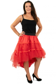 Petticoat schuin aflopend 3 laags rood