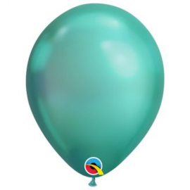 Ballonnen luxe chroom groen 10 stuks
