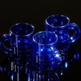 Shotglaasjes 2,5cl. transparant blauw