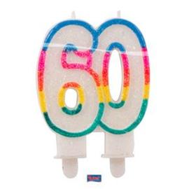 Glitterkaars 60