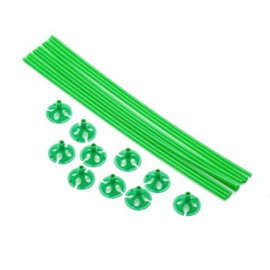 10 ballon sticks 40cm groen