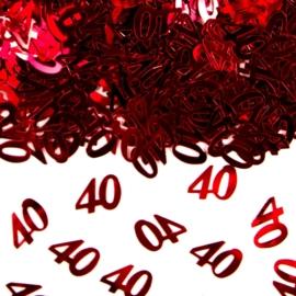Tafeldecoratie 40 rood