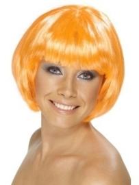 Bobline pruik oranje