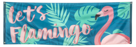 Gevel banner Flamingo