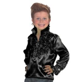 Disco blouse kinderen zwart OP=OP