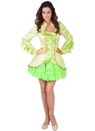Dames Jas Brocaat burlesque neon groen
