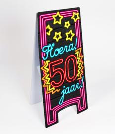 Waarschuwings bord Neon 50 jaar