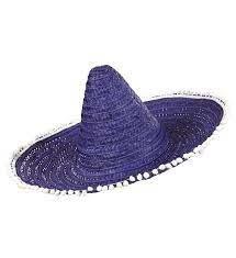 Sombrero blauw de luxe