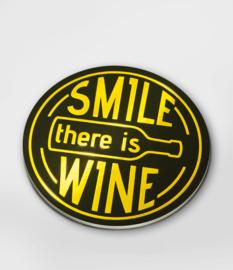 Glossy onderzetters Smile Wine