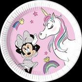 Minnie Unicorn Dreams | Composteerbaar Papieren bordjes