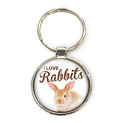 Luxe Sleutelhanger - I love Rabbits