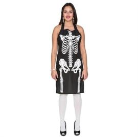 Halloween skelet schort