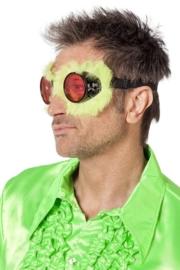 Racebril met bont fluor geel