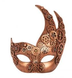 Oogmasker steampunk brons