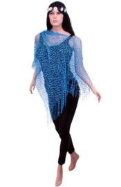 Toppers poncho turqoise