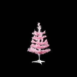 Kunst kerstboom babyroze 45cm