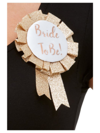 Bride to be button rose gold