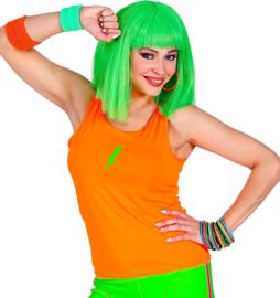 Tanktop neon oranje vrouw