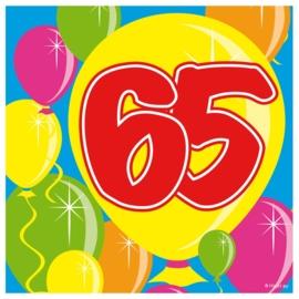 Servetten 65 jaar balloons