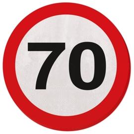 Verkeersbord servetten 70 jaar