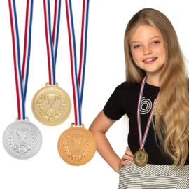 3 podium medailles