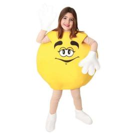 M & M kostuum geel kids