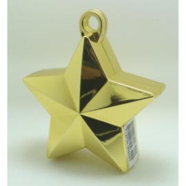 Star ballongewicht metallic goud