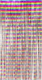 Folie gordijn metallic regenboog |