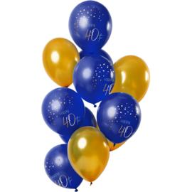 Ballonnen Elegance true blue 40 jaar